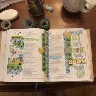 Washi and coloring Bible